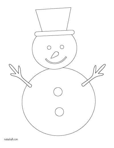 basic snowman template