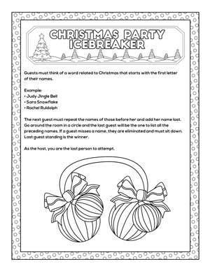 free printable Christmas party icebreaker game