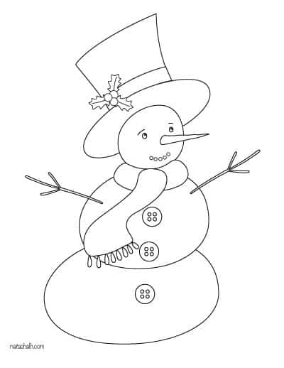 classic snowman coloring page
