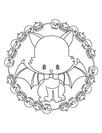 cute cat with bat wings