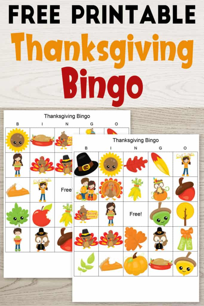 Free Printable Thanksgiving Bingo The Artisan Life