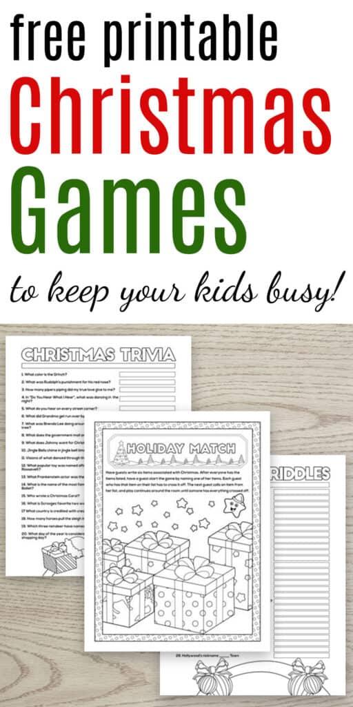 free printable christmas games to keep your kids busy