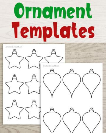 free printable Christmas ornament templates