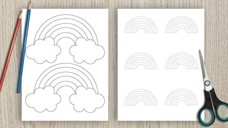 Printable Rainbow Templates