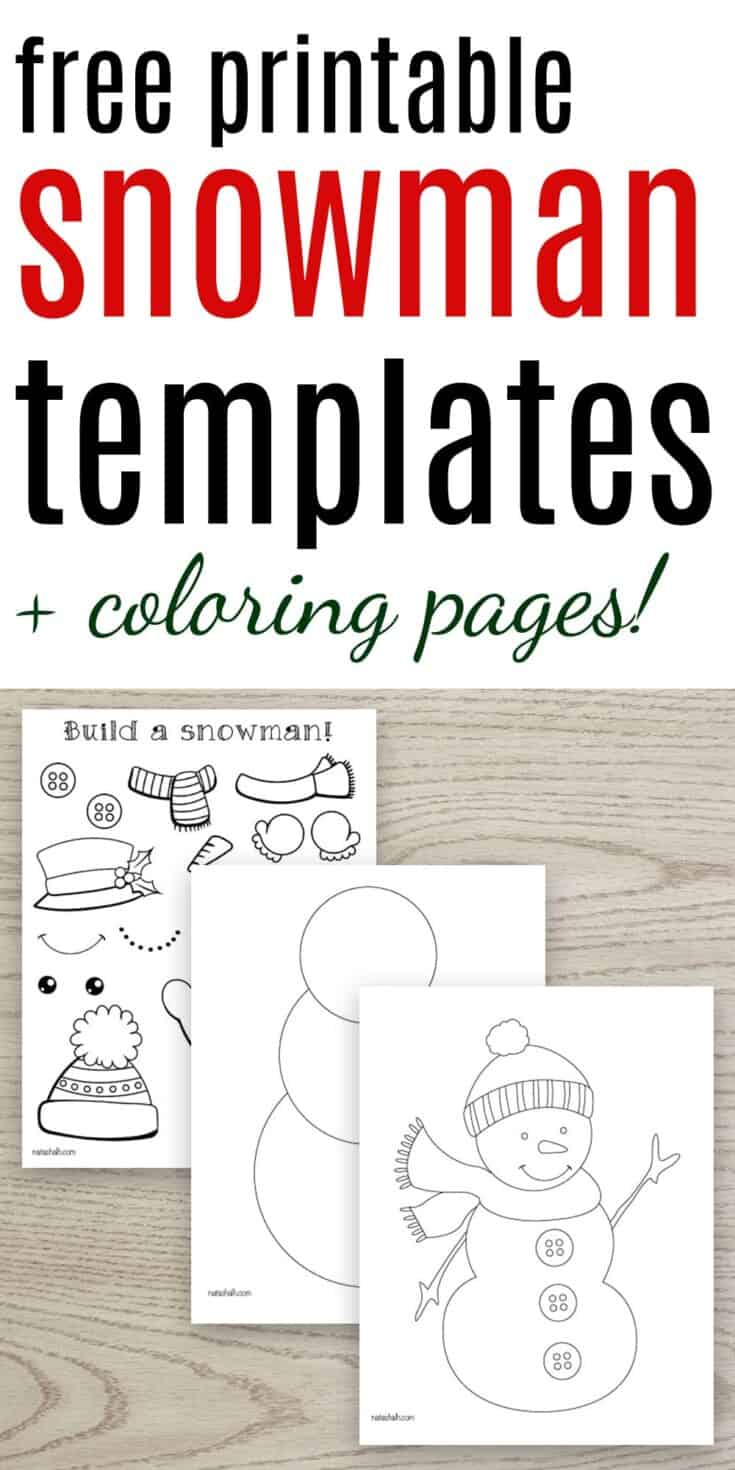 Free Printable Snowman Templates - The Artisan Life