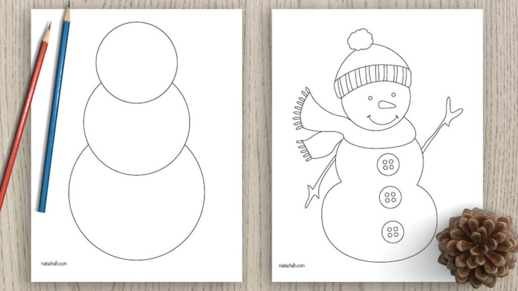 free printable snowman templates and coloring pages