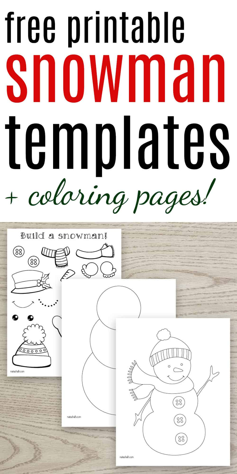Free Printable Snowman Templates The Artisan Life