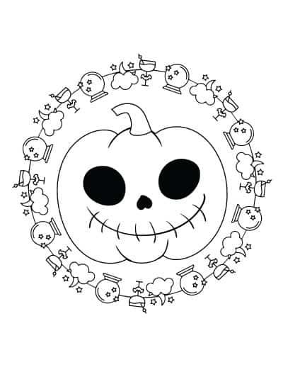 jack o'lantern coloring page