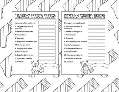 know your toys printable christmas game