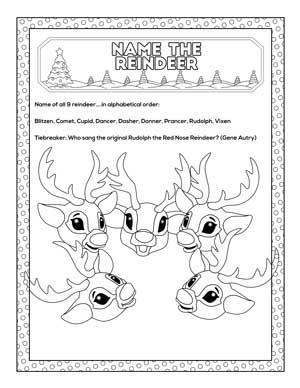 name the reindeer game