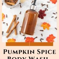 DIY Pumpkin Spice Body Wash