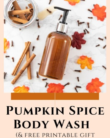 pumpkin spice body wash recipe
