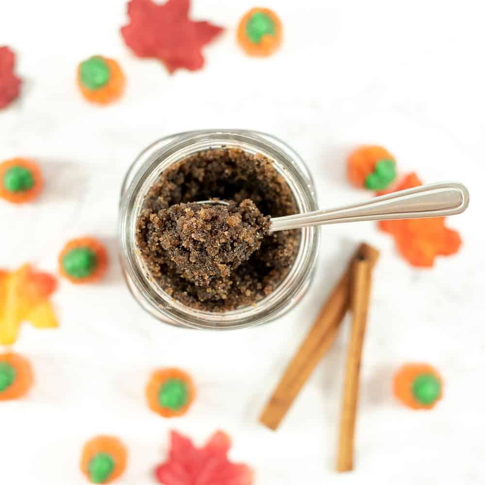 pumpkin spice latte sugar scrub