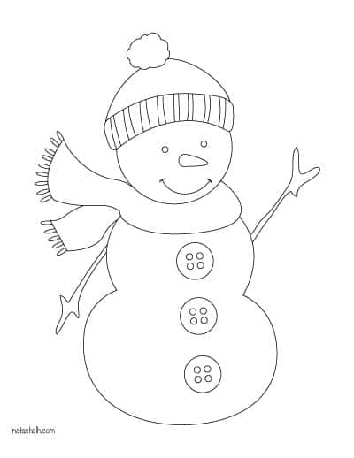 snowman with scarf template