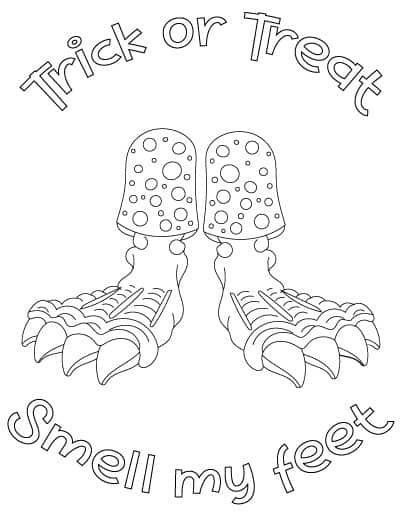 smell my feet coloring page