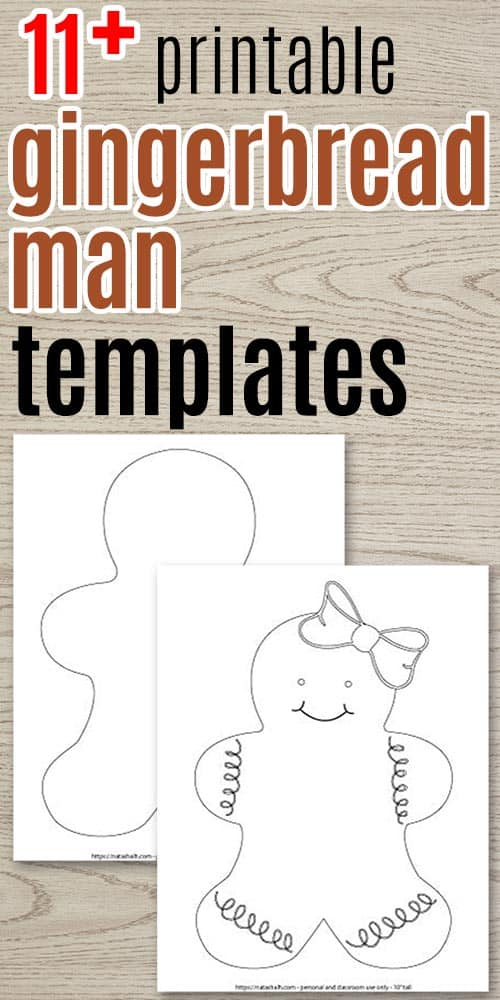 11 Free Printable Gingerbread Man Templates
