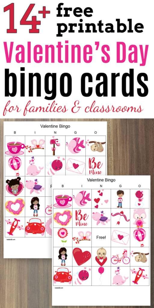 14+ free printable valentine's bingo boards