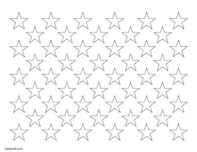 american flag star template