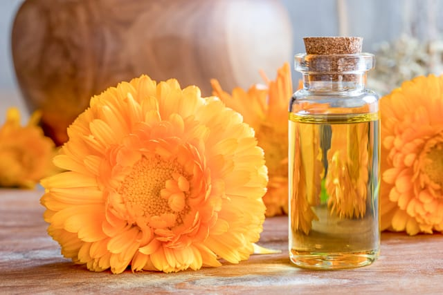 bottle of calendula oil