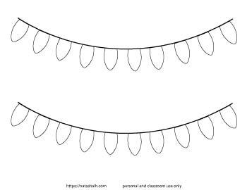 Christmas light garland template