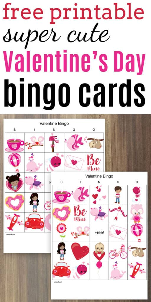 cute free printable valentines bingo boards