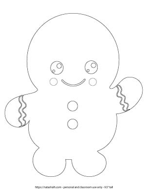 cute gingerbread man printable