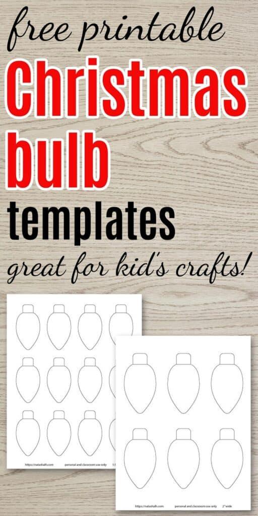 free printable christmas light templates