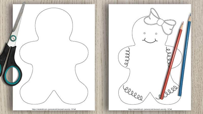 free printable gingerbread man templates