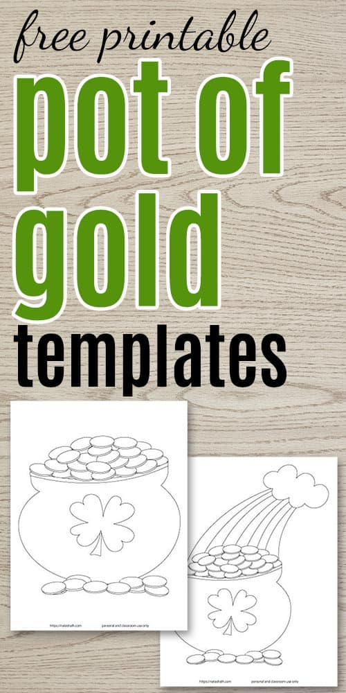 7 Free Printable Pot of Gold Templates
