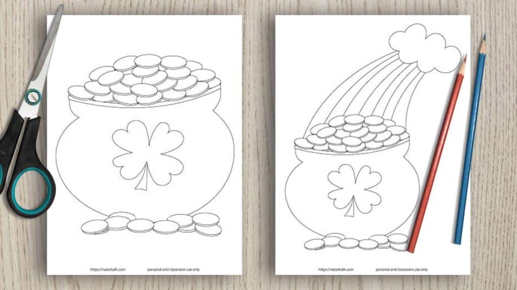 free printable pot of gold templates