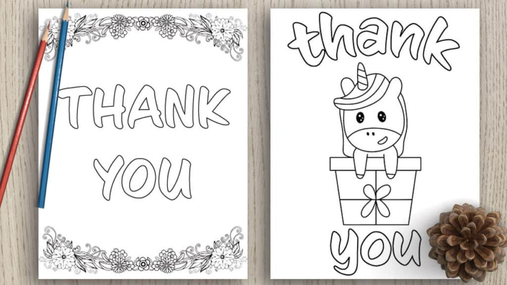 7 Free Printable Thank You Coloring Pages The Artisan Life