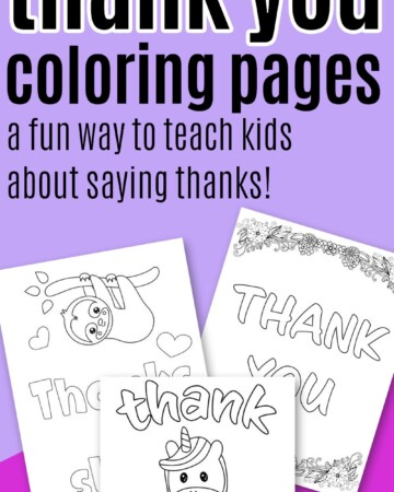 free printable thank you coloring sheets
