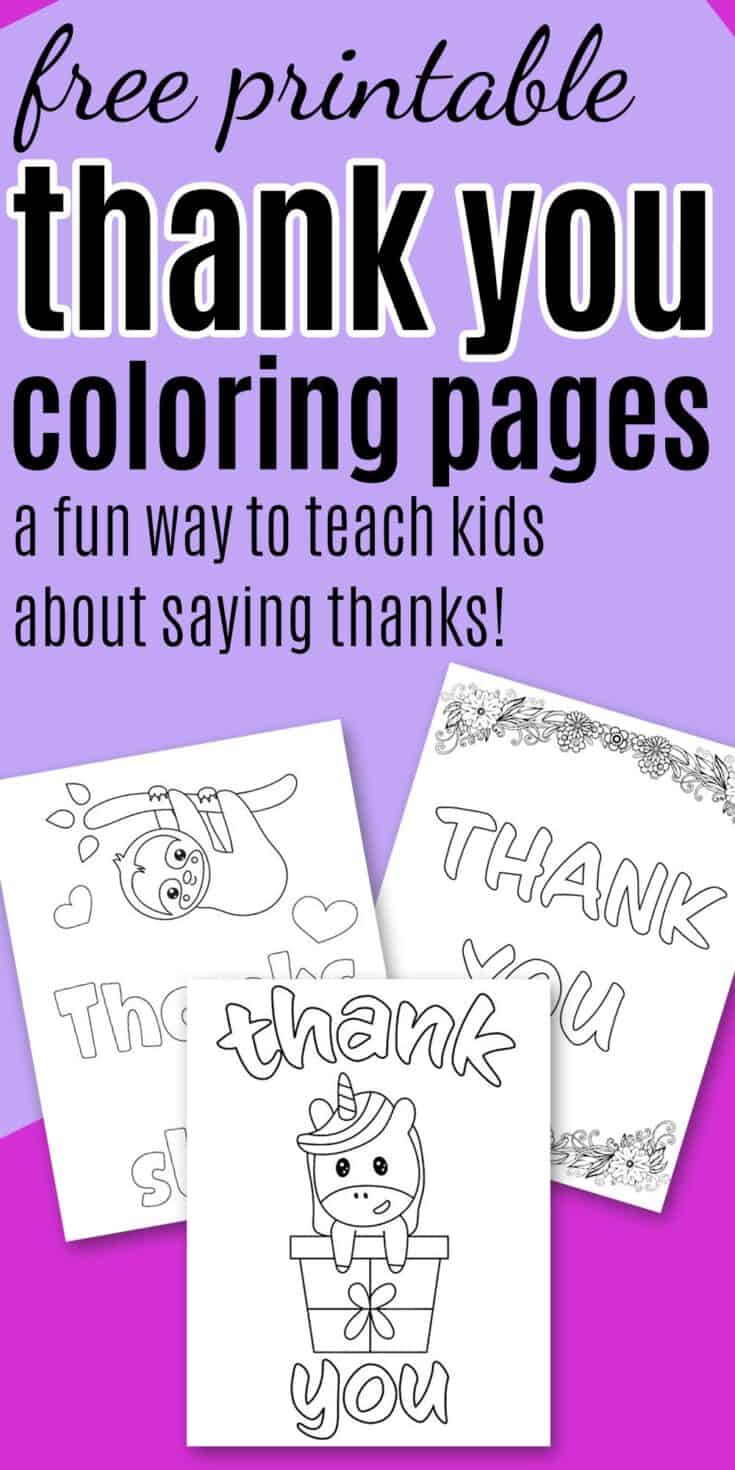 7+ Free Printable Thank You Coloring Pages