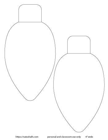 large Christmas light templates