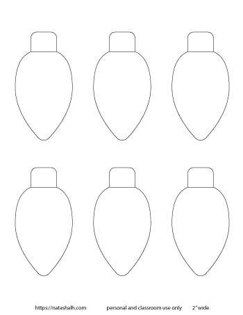 medium Christmas light bulbs