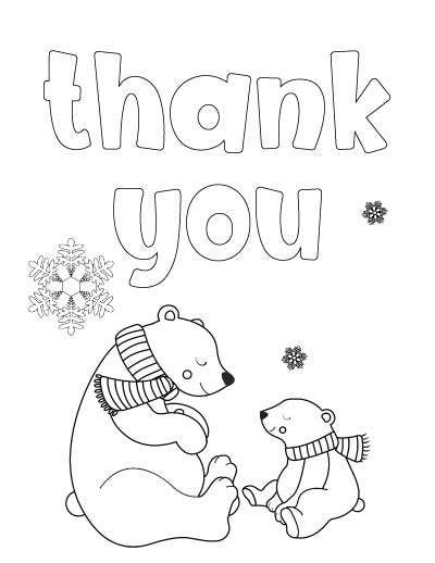 7+ Free Printable Thank You Coloring Pages - The Artisan Life
