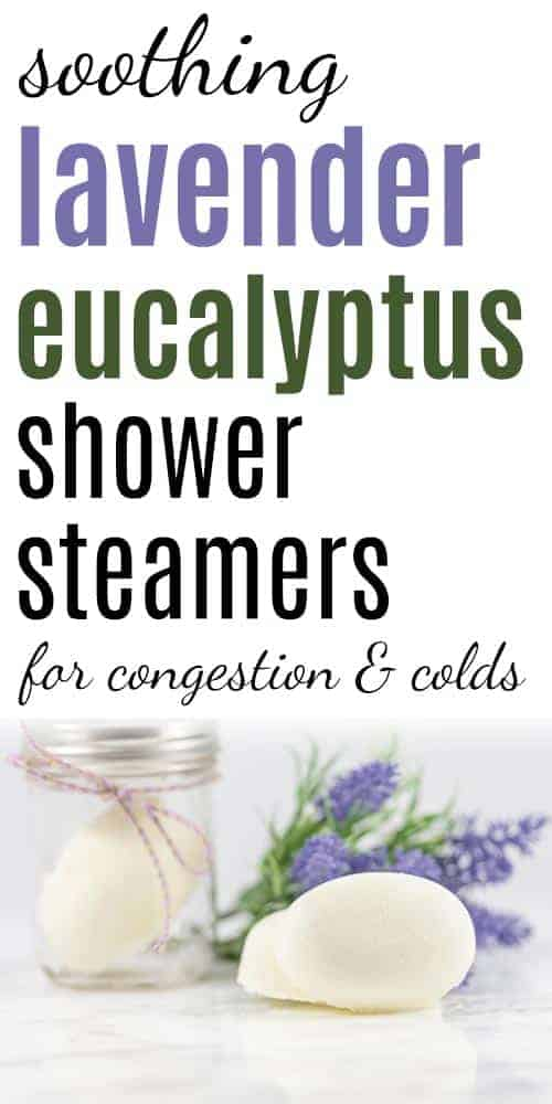 Shower steamers for congestion