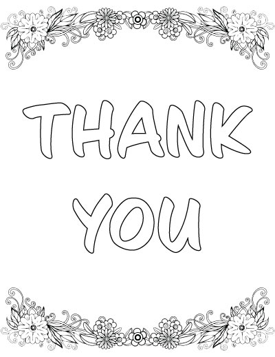 - 7+ Free Printable Thank You Coloring Pages - The Artisan Life