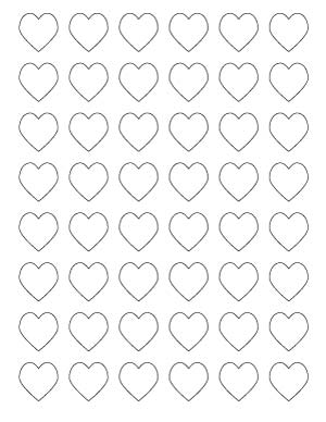 1 inch heart printables