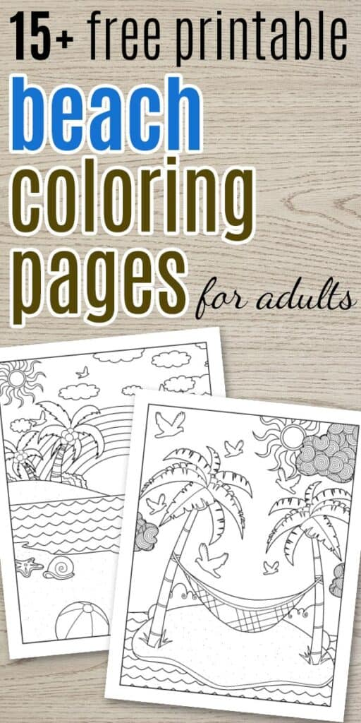 Free Printable Beach Coloring Pages - The Artisan Life