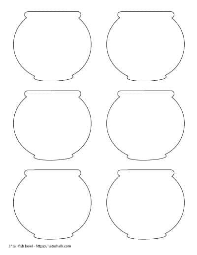 "6 3"" tall fish bowl templates"