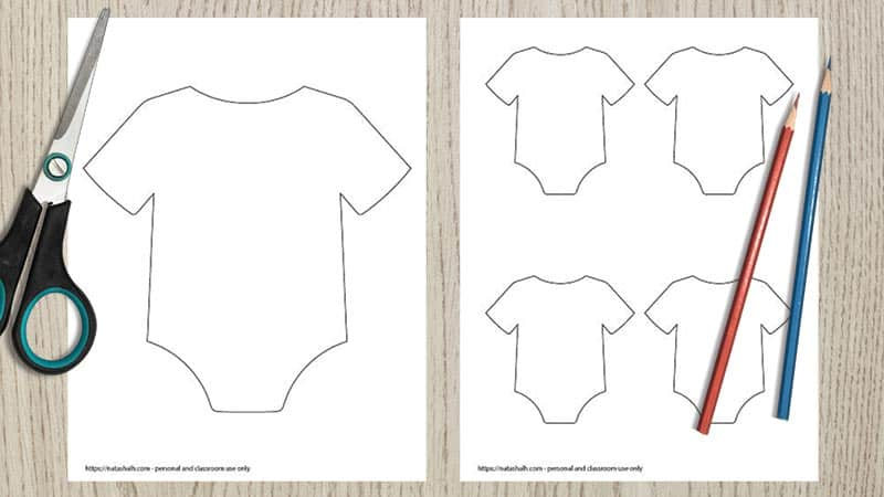 9 Free Printable Baby Onesie Outline Templates
