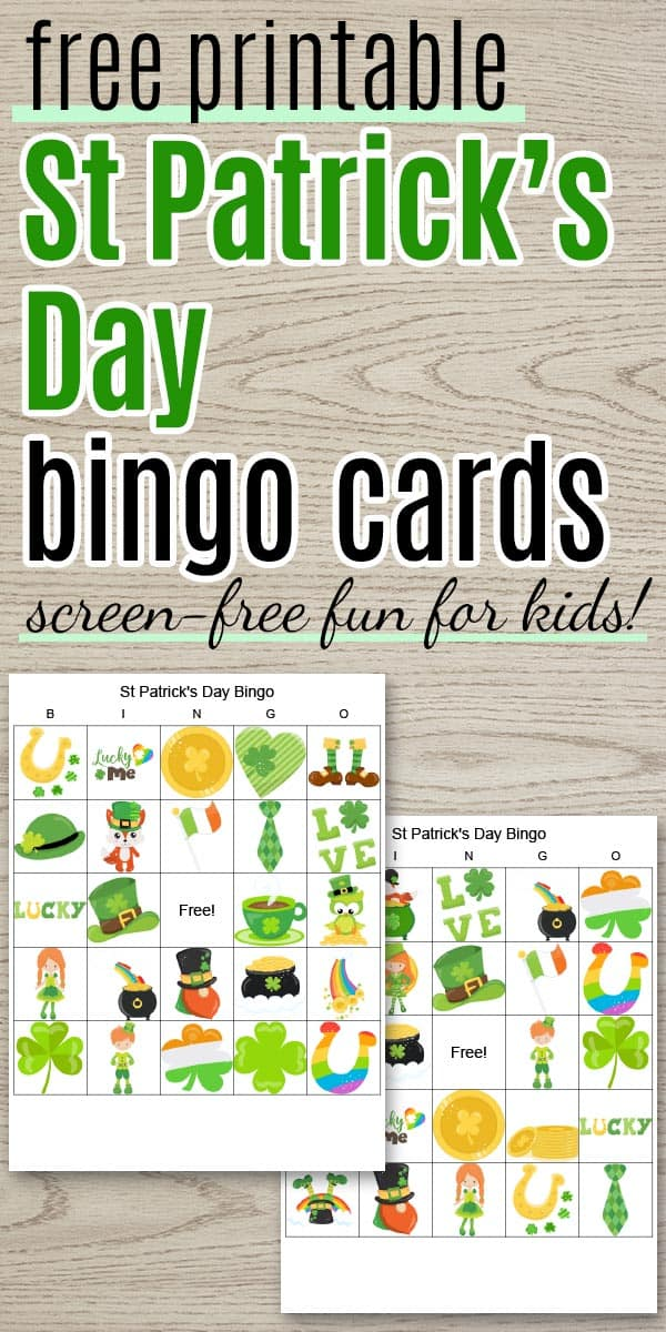 Free Printable St Patrick's Day Bingo