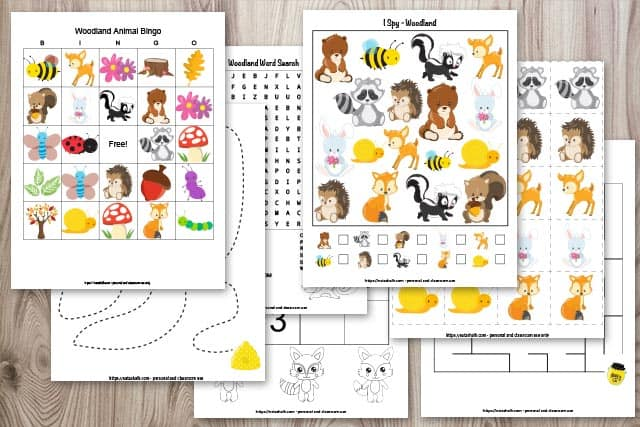 Free Printable Woodland Animal Activity Pack