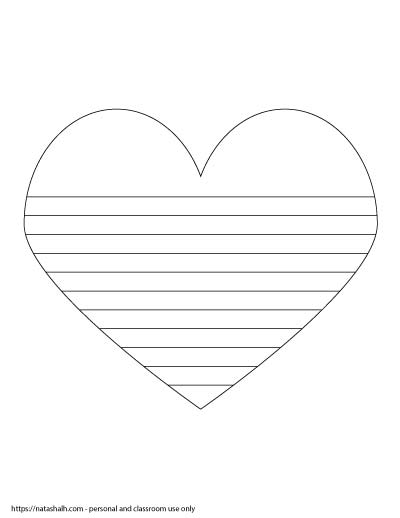 heart writing paper