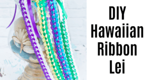 DIY Braided Hawaiian Ribbon Lei (Super easy with video!)