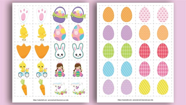 Free Easter Matching Game Printable (an easy screen-free activity!)