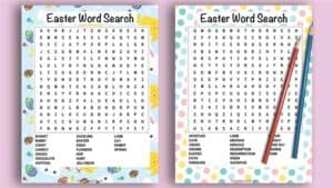 Free Easter Word Search Printable (secular and religious versions - no email required!)