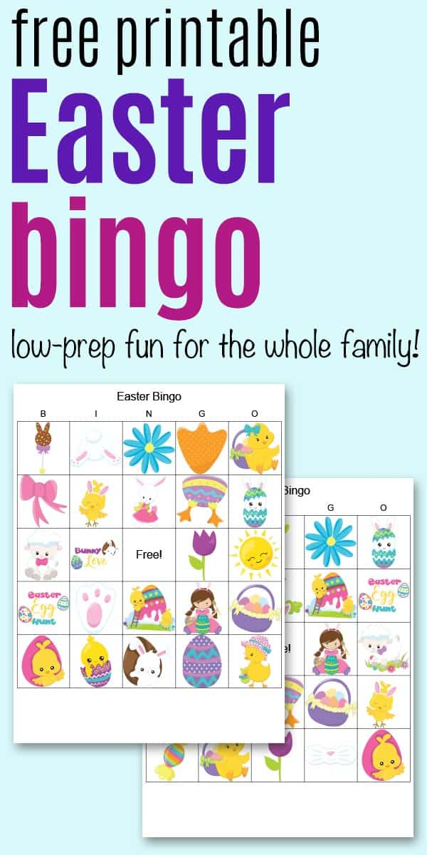 Free Printable Easter Bingo (secular and religious versions!)