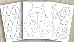 9 Free Printable Ladybug Templates (cute for coloring & crafts!)